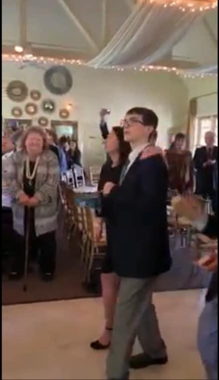Guests at memorial
