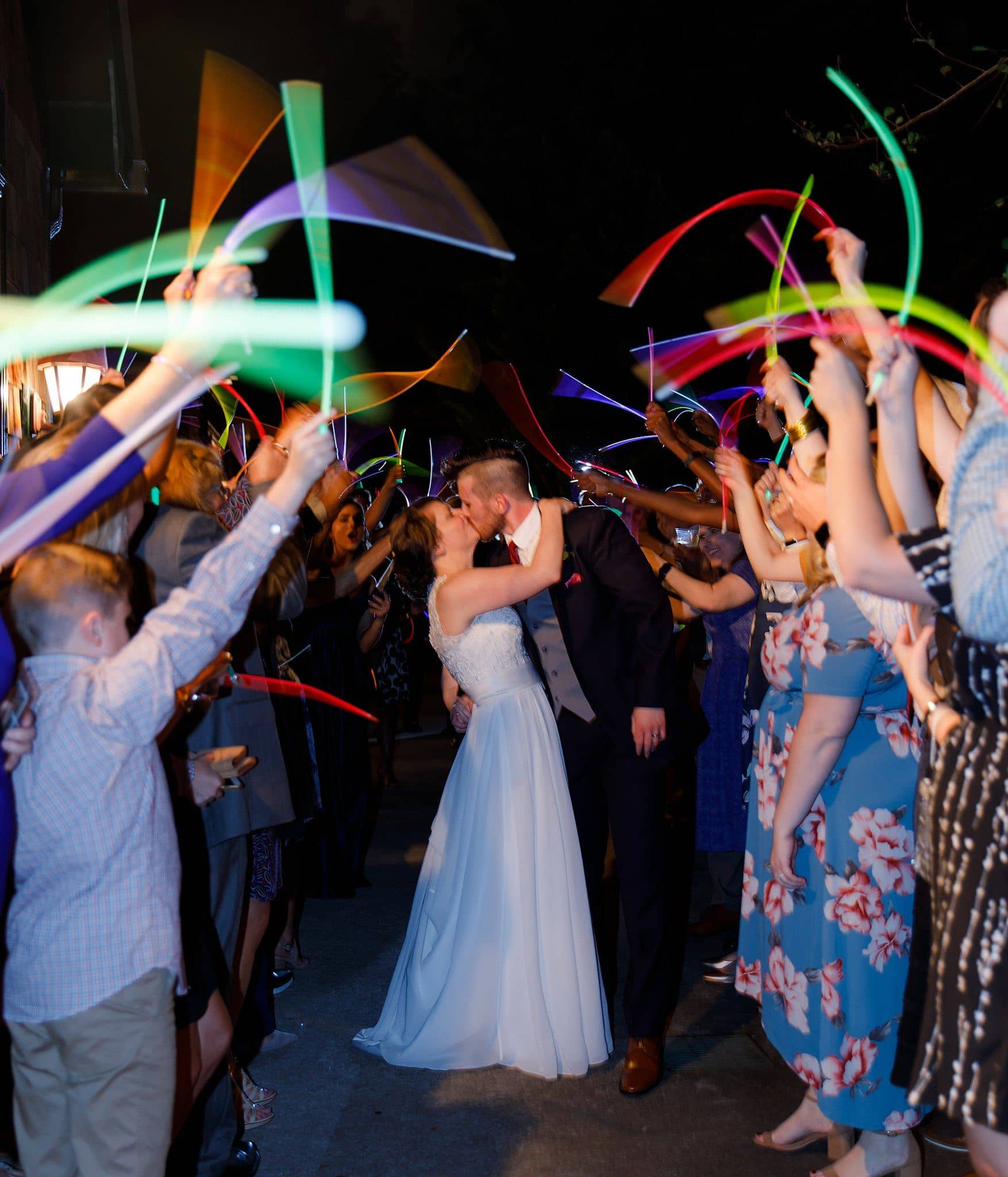 Glowstick wedding exit